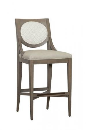 Fairfield's Rocco Modern Wood Bar Stool with Oval Back and Seat Cushion