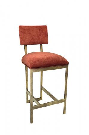 Wesley Allen's Nara Modern Gold Bar Stool with Seat/Back Cushion