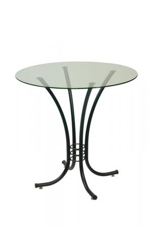 Trica's Erika Black Table with Round Glass