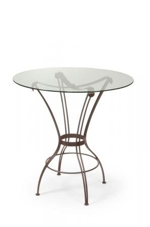 Trica's Transit Counter Height Table with Round Glass Top