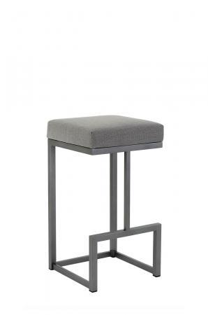 Metal Finish: Flint Rock Grey • Seat Cushion: Loft Grey, fabric