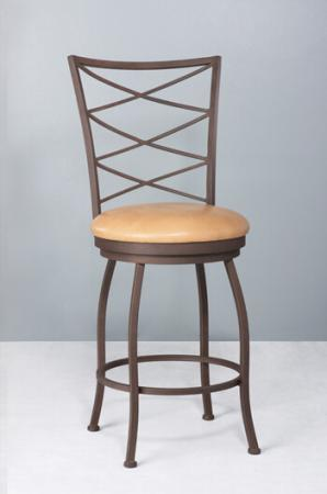 Wesley Allen's Shasta Swivel Stool for Traditional Styled Kitchens