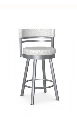 Amisco's Ronny Modern Swivel Bar Stool in Silver
